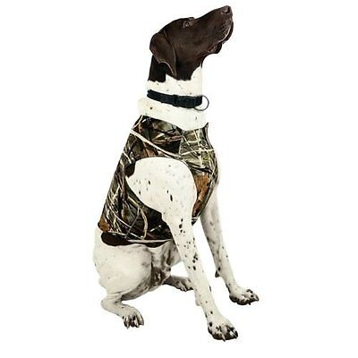 """Team RealTree Dog All Weather Neoprene Chest Protector Large 18"""" Neck 28"""" Chest"""