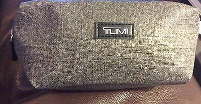 Tumi Delta Airlines Gray Soft Sides Zippered Amenity Kit