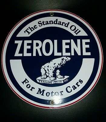ZEROLENE Gas Oil Porcelain advertising Sign