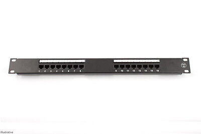 CAT5e 16 Port Patch Panel