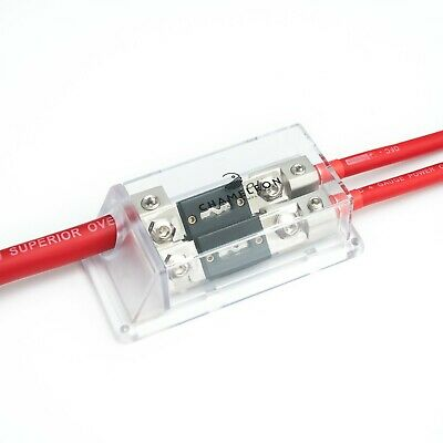 0 - 4 awg power distribution block and choice of fuses -0 gauge in 2x4 gauge out