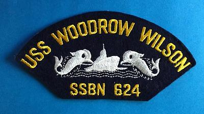 Vintage 1960's US Navy USS Woodrow Wilson SSBN 624 Jacket Hat Iron On Patch 026