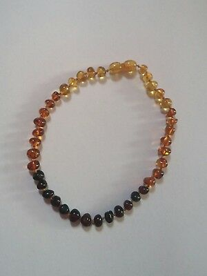 """Amber Baroque Rainbow Small 11"""" Teething Necklace Jewelry"""
