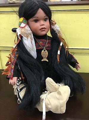 Native American Timeless Collection DOLL Indian Girl Porcelain Limited 1649/2500