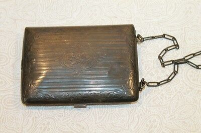 "Francis Reed Barton Sterling Silver ""mjr"" 100 Years Old 1915 Wallet Case Purse"