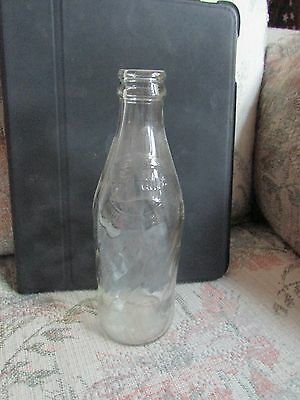 "Glass Pepsi Bottle 10 oz, approx 71/2"" tall"