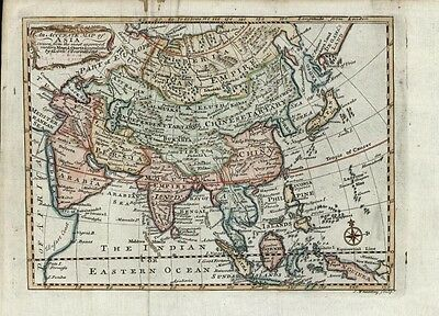 Asia Arabia Mogul Empire Persia Tibet China Tartary 1791 antique Wheatley map