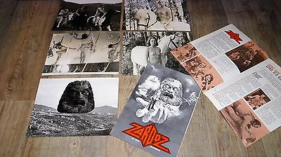 ZARDOZ ! john boorman   rare photos presse argentique cinema 1973 + scenario