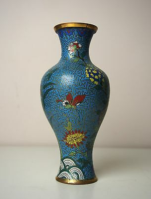 A Chinese Cloisonne 'Butterfly and Flower' Vase, 18th Century