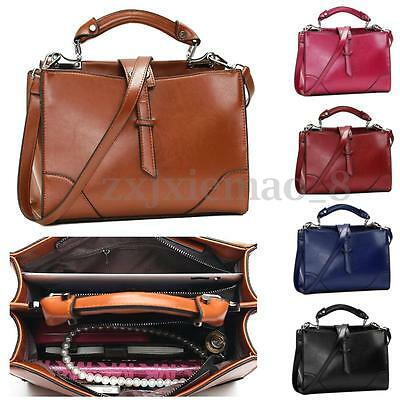 Women Leather Handbag Shoulder Purse Ladies Satchel Crossbody Messenger Tote Bag