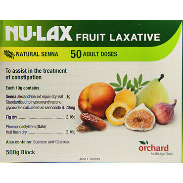 Nulax Fruit Laxative 500G NEW Cincotta Chemist