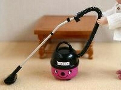 Patty pink Hoover, Dolls House Miniatures, Vacuum Cleaner, 1.12 Scale.