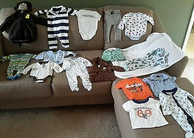 Boys 3-6 months size mixed lot of 16 (2)