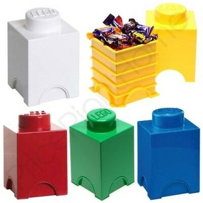 Lego Storage Brick Box 1 Knob Kids Childrens Bedroom Playroom Various Colours