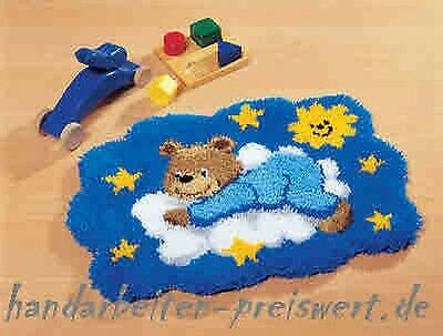 Vervaco Knotted Carpets ca.55x40 cm TEDDY on a cloud knot yourself -37066