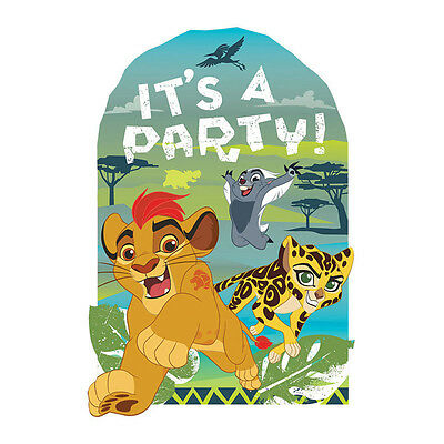 8 Disney The Lion Guard King Birthday Party Post Card Invitation