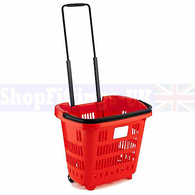 15x Red Supermarket Grocery Shopping Basket DIY Retail Shopping Basket