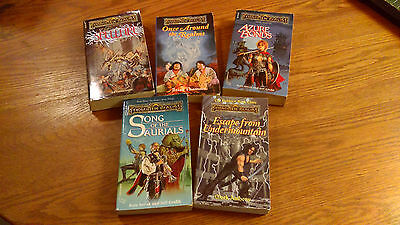 Lot of 5 books from The Forgotten Realms - Dungeons and Dragons,DnD, TSR