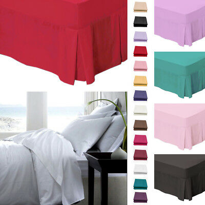 Plain Fitted Valance Bed Sheet – 180 Thread Count Polycotton Percale Bedding