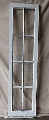 Antique 8 Lite Casement Cupboard Window Cabinet Shabby Vtg Chic Old 61x16 227-17