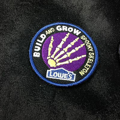 LMH PATCH Badge  SPOOKY SKELETON Bones Phalanges LOWES Build Grow Project Series