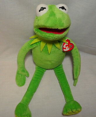"""Ty KERMIT THE FROG Beanie Buddies 16"""" With Tags Excellent Sesame Street Muppets"""