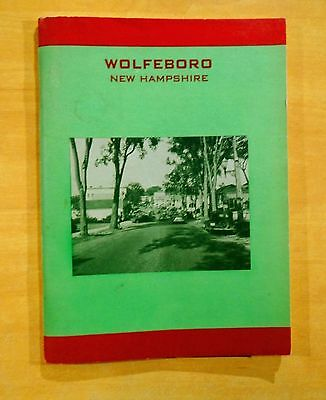 WOLFEBORO NEW HAMPSHIRE 1950 Illustrated Guide Book Advertising Cabins Lodges