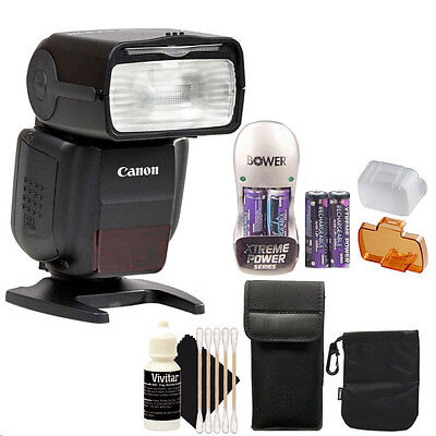 Canon Speedlite 430EX III-RT Flash with Battery and Charger + Cleaning Kit