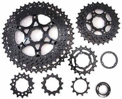 Sunrace MS8 11 speed wide ratio MTB cassette 11-42T or 11-46T Black or Champagne