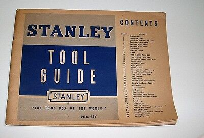 "Vintage 1950 ""Stanley Tool Guide"" Use and Care of Tools"