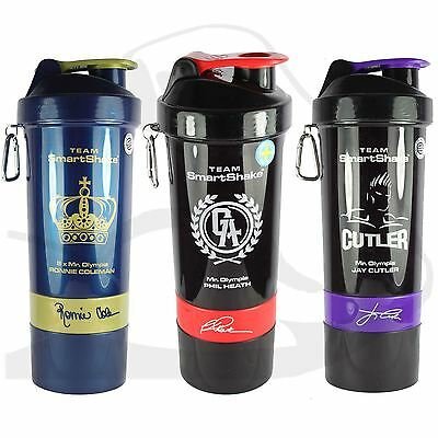 SmartShake Protein Shaker Bottle Signature Jay Cutler Phil Heath Ronnie Coleman