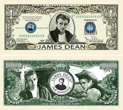 100 Factory Fresh Novelty James Dean Million Dollar Bills