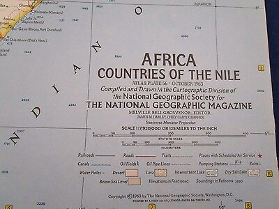 Vintage Map: Africa October 1963 National Geographic {3037-6}