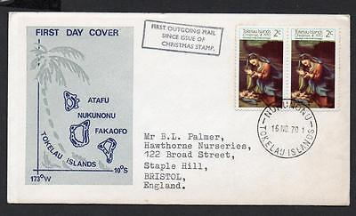 Tokelau Islands 1970 Christmas Cover