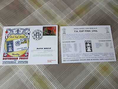 NOTTINGHAM Forest v TOTTENHAM 1991 FAC Final Wembley FOOTBALL First Day Cover