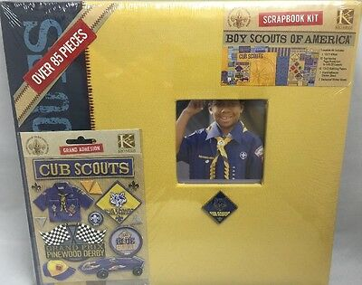 Boy Scouts of America (BSA) Cub Scouts Scrapbook Kit | Over 85 Pieces (NIP)