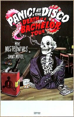 PANIC AT THE DISCO MISTERWIVES Death Of A Bachelor 2017 Tour Ltd Ed RARE Poster