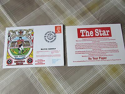 SHEFFIELD Utd v LIVERPOOL 1990 1st Home Game Back Div 1 FOOTBALL First Day Cover
