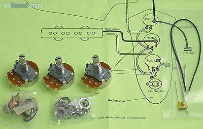 WIRING KIT FOR Import Fender JAZZ B COMPLETE w/ Diagram ... on