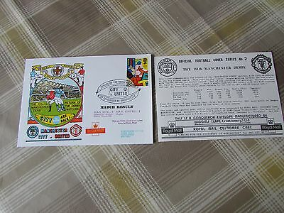MAN City v MANCHESTER United 1990 Return to Division 1 FOOTBALL First Day Cover