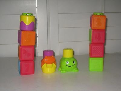 Fisher Price Peek A Boo Stack N Surprise Lot Of 10 Pop Up Blocks Snail Baby Toy