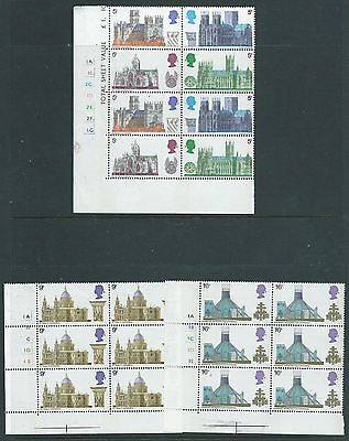 1979 Cathedrals Set In  Cylinder Blocks Of 6 Or 8 Superb Unmounted Mint