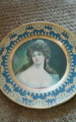 TIN LITHOGRAPH ADVERTISING Plate / TRAY VIENNA ART PLATE VINGTAGE  lot i