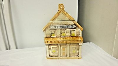 Older Treasure Craft USA marked Cookie Jar-Cookieville Cowboy City House