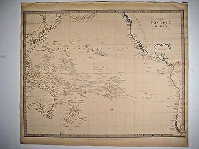1840 SDUK: Map of the Pacific Ocean, Australasia