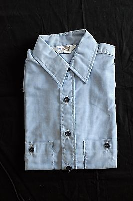 Vtg 1980s Five Brother Chambray Work Shirt M short sleeve button down deadstock