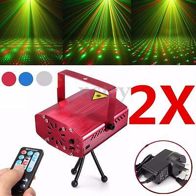 2pcs Mini R&G Laser Light Lighting Projector KTV DJ Disco Stage Party Show Club