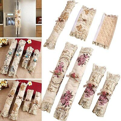 New Refrigerator Handle Covers Double Doors Fridge Cloth Floral Cover Home Decor