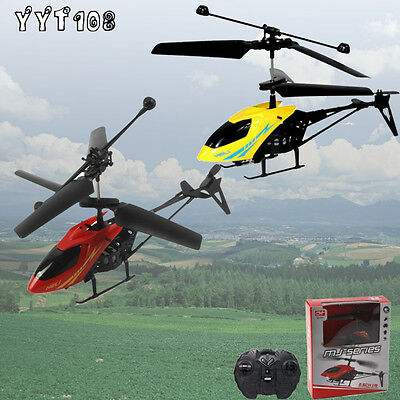 RC 901 2CH Mini Radio Remote Control Helicopter Micro 2 Channel LED Lights Plane