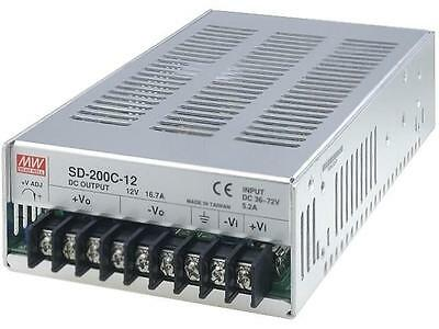 SD-200C-12 Converter DC/DC 200.4W Uin36÷72V Uout12VDC Iout16.7A MEANWELL